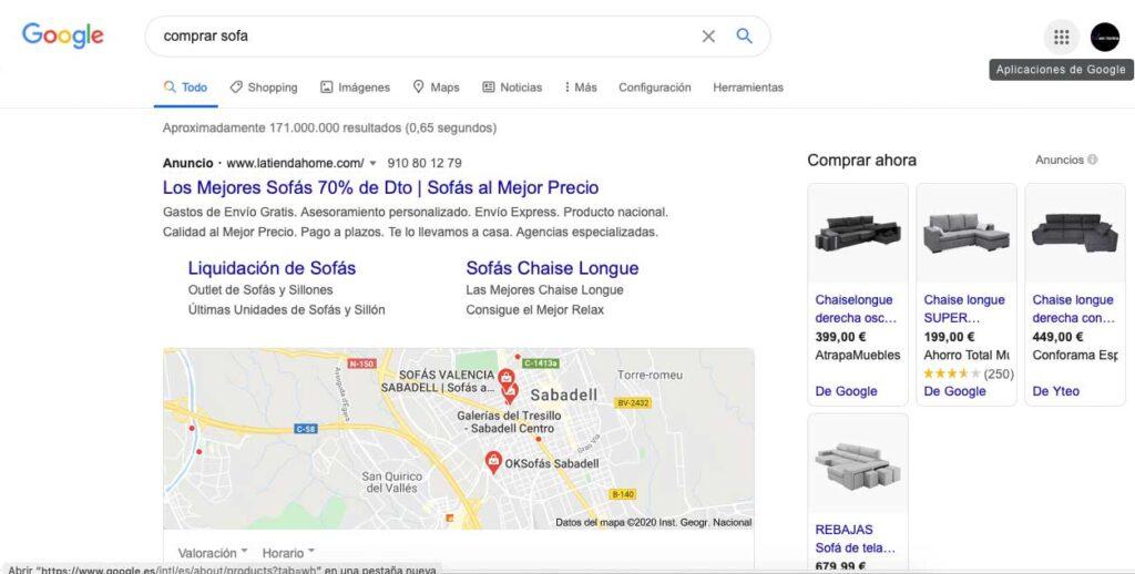 google adwords y merchant center
