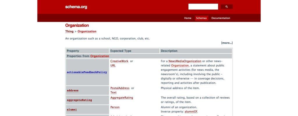 Que es Schema.org y por que es Importante para el posicionamiento web
